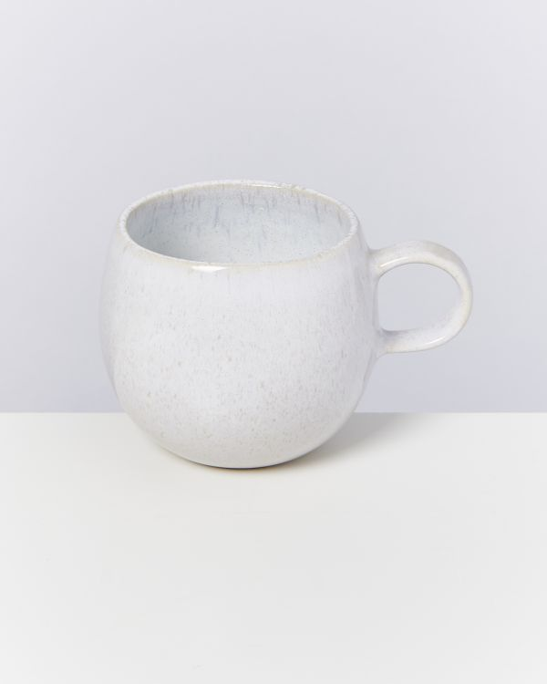 AREIA - Set of 4 Cups big white 2