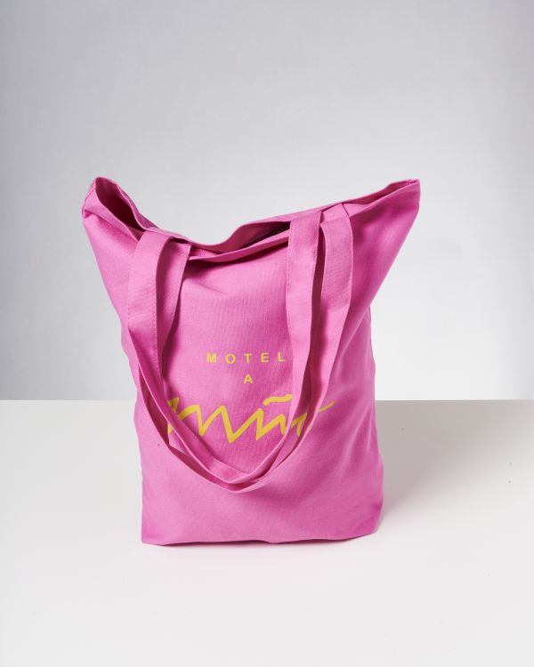 Beach Bag pink gelb 2