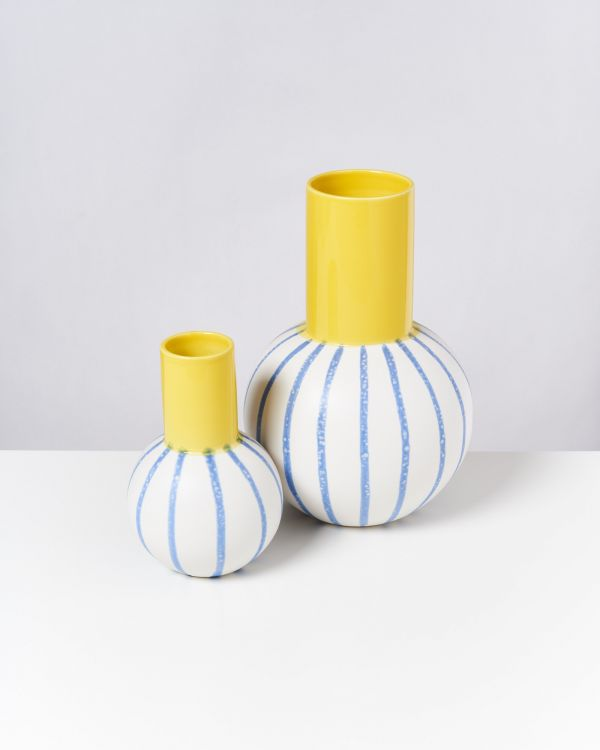 Bola M - yellow blue striped 2