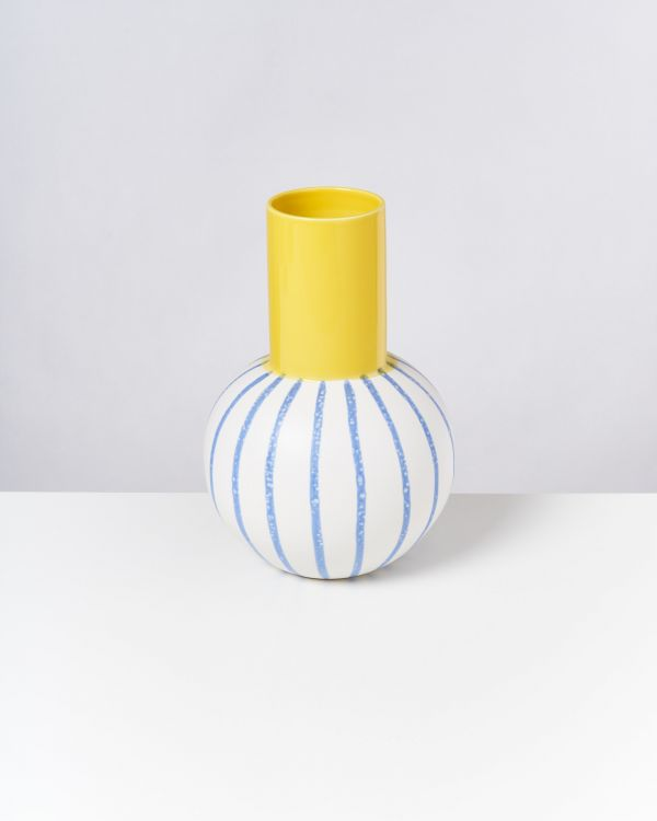 Bola L - yellow blue striped 2