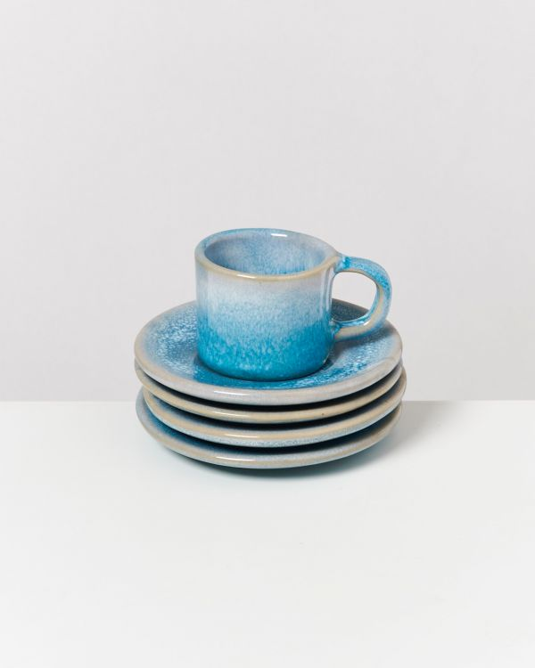 CORDOAMA - Set of 4 Espresso Saucers aqua 2