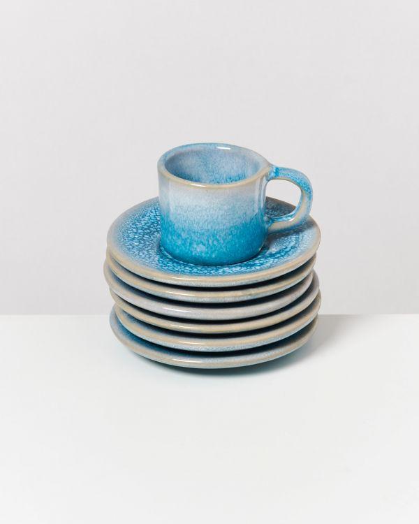 Cordoama - Set of 6 Espresso Saucers aqua 2