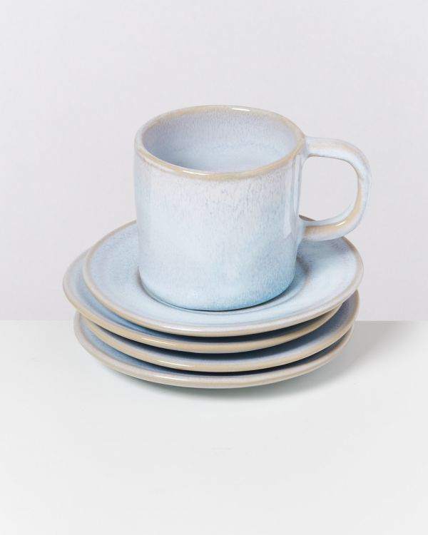 CORDOAMA - Set of 4 Saucers azure 2