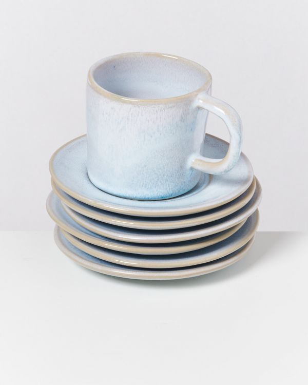 CORDOAMA - Set of 6 Saucers azure 2