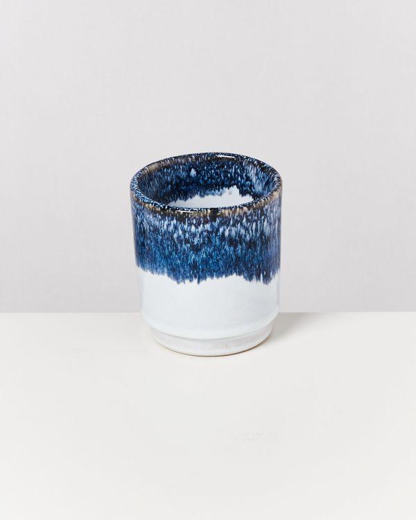 Cordoama 4er Set Becher blau gesprenkelt 2