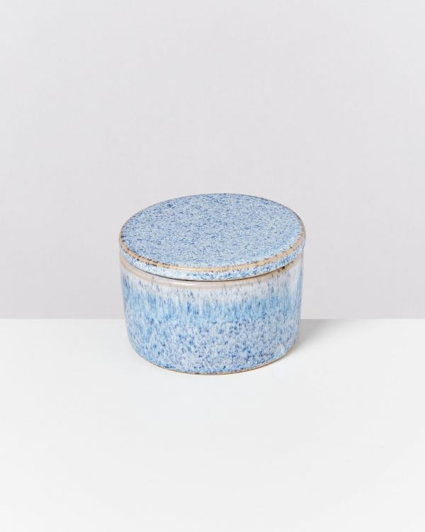 CORDOAMA – Bowl with lid blue speckled 2