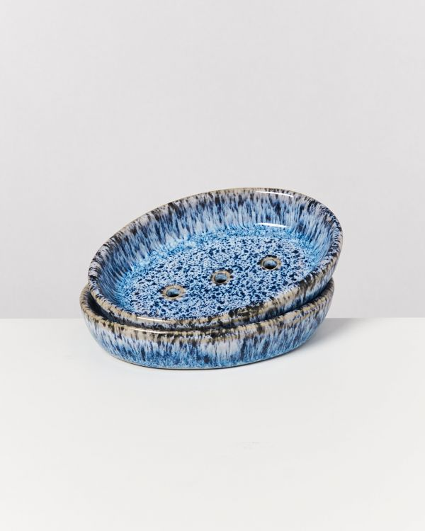 Cordoama – Soap Dish blue speckled 2