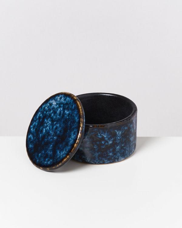 CORDOAMA – Bowl with lid darkblue 2