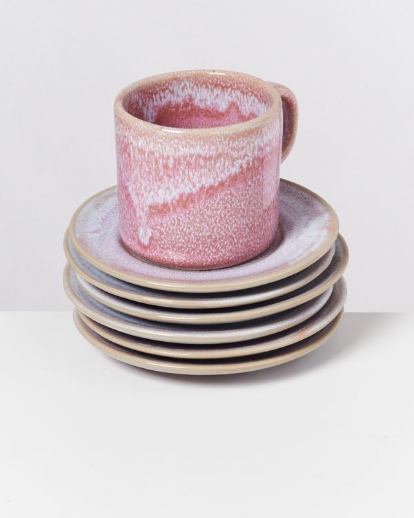 CORDOAMA - Set of 6 Saucers rosé 2