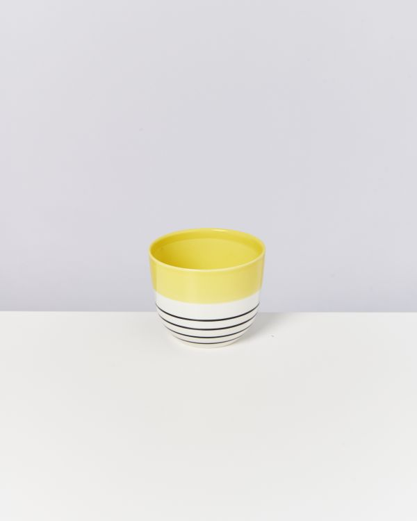 Flores Planter yellow black striped 2