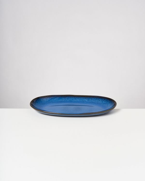 Melides - Serving Platter L blue 2
