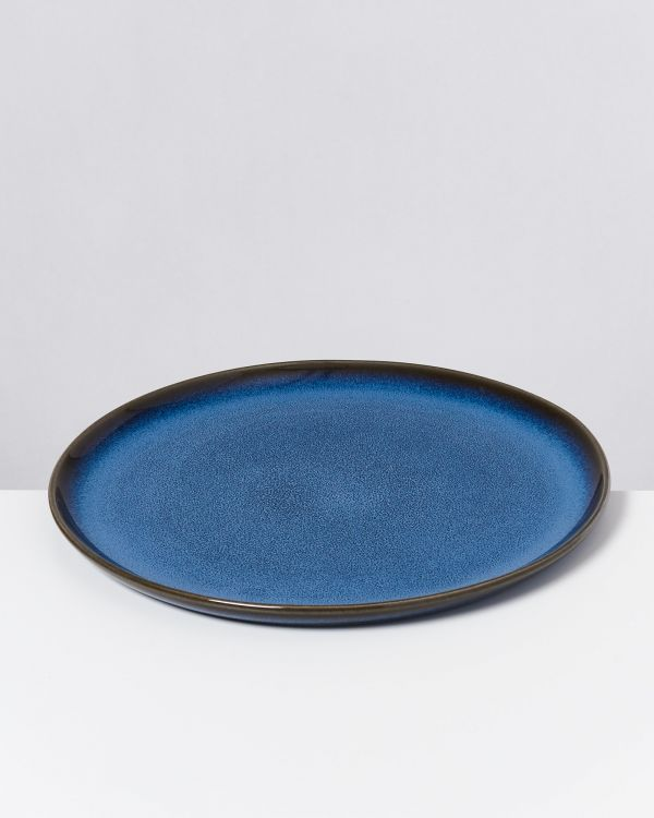 Melides - Plate large blue 2