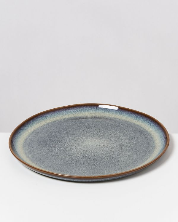 Melides - Plate large forest brown 2