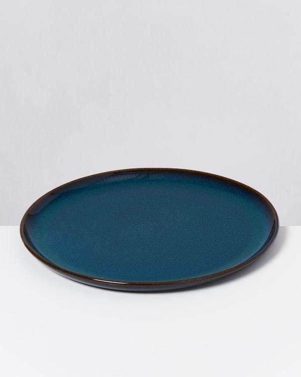 Melides - Plate large oceanblue 2