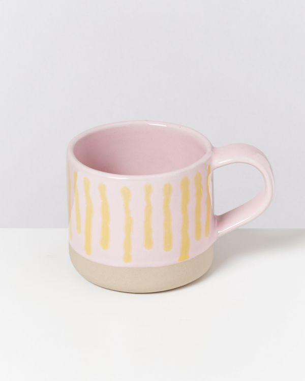 Nódoa 6er Set Tasse rosa gelb gestreift 2