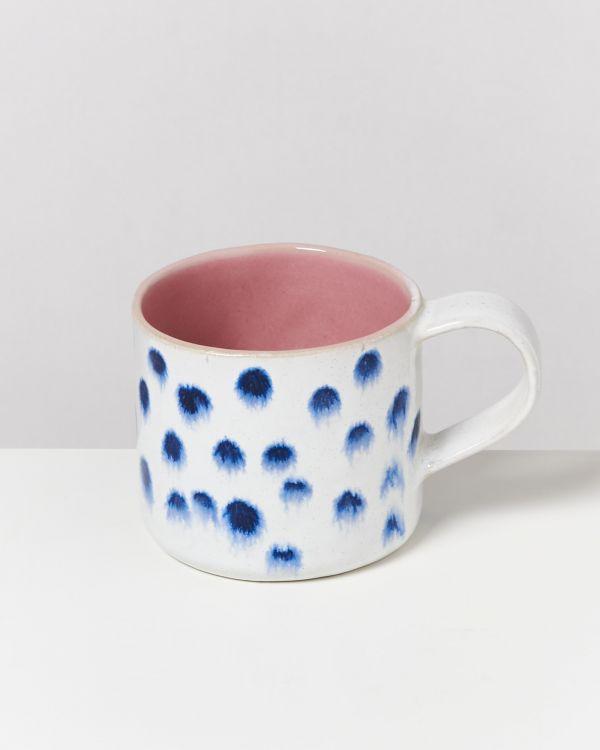 Nódoa 4er Set Tasse rosa mit Punkten 2