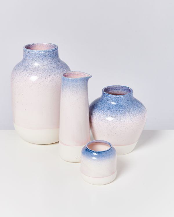 PINGUIM - Decanter blue rose speckled 2