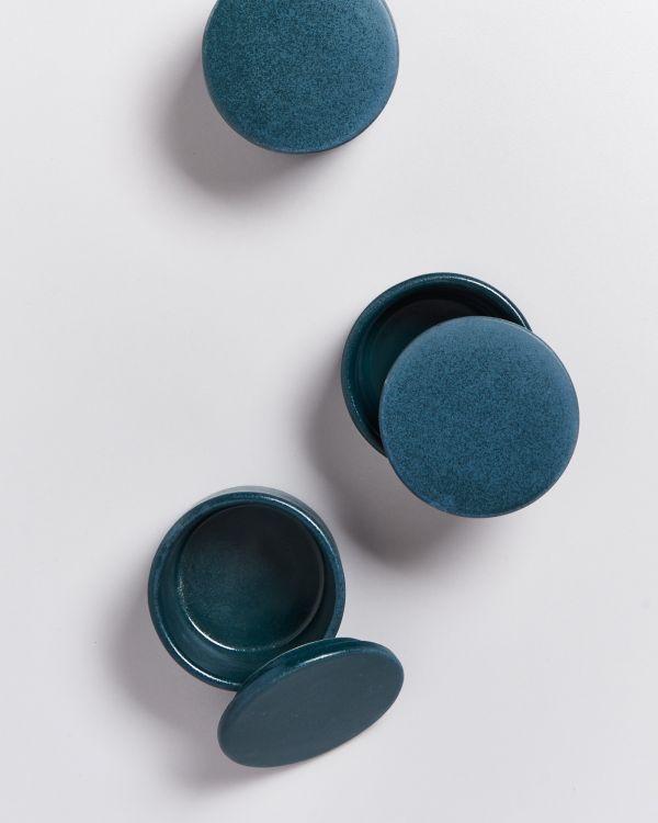 Tavira – Bowl with lid green 2