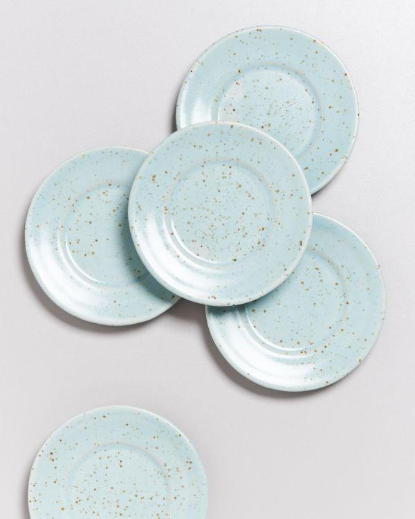 Tavira - Saucer mint dots 2