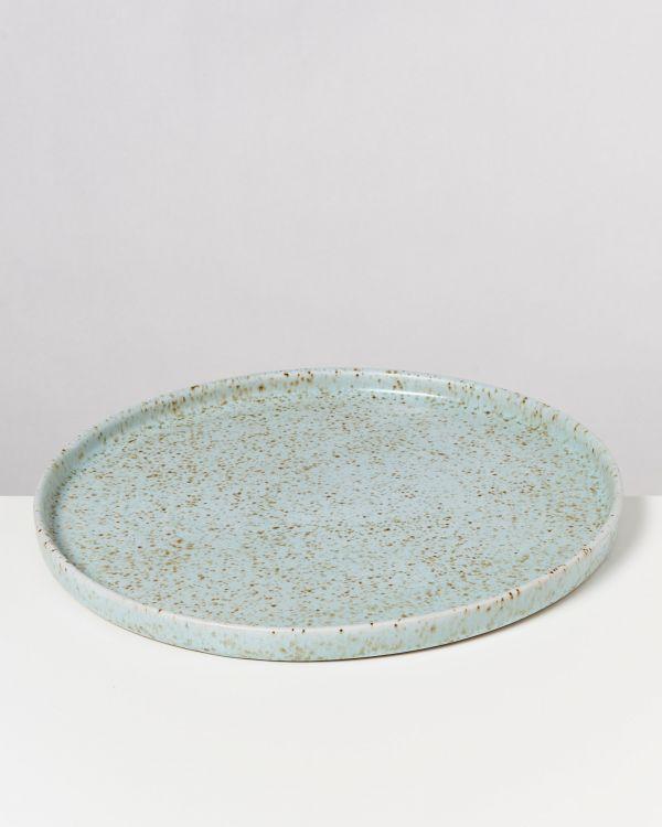 Tavira Teller groß mint dots 2