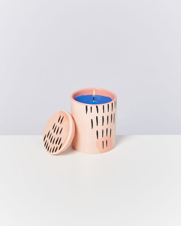 VELA - Candle coral striped 2
