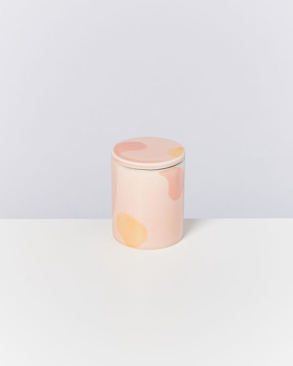 VELA - Candle pink yellow 2