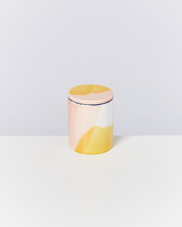 VELA - Candle white pink yellow 2