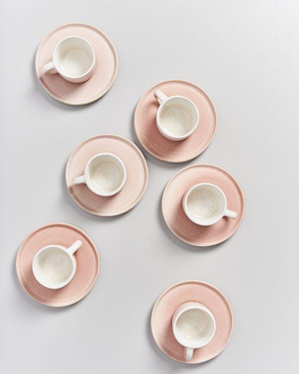 Zavial rose Espressotasse mit Untertasse 2