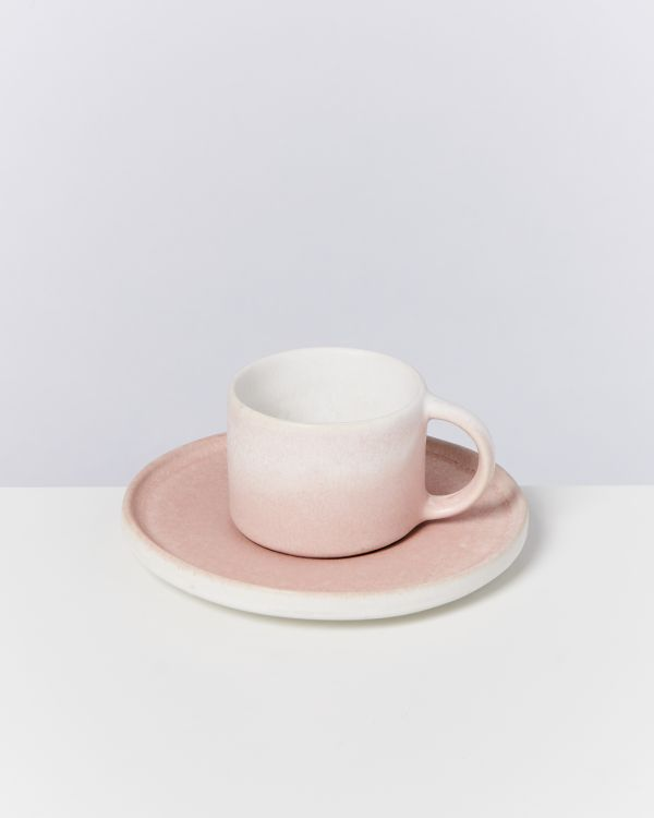 Zavial rose - Set of 6 Espressomugs with Saucer 2