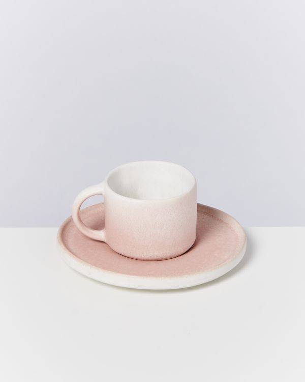 Zavial rose - Set of 4 Espressomugs with Saucer 2