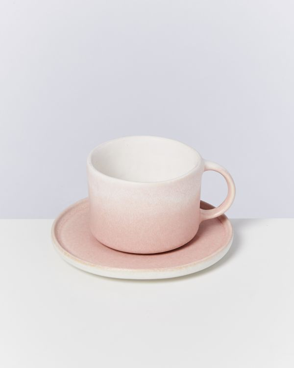 Zavial rose - Set of 4 Mugs with Saucer 2