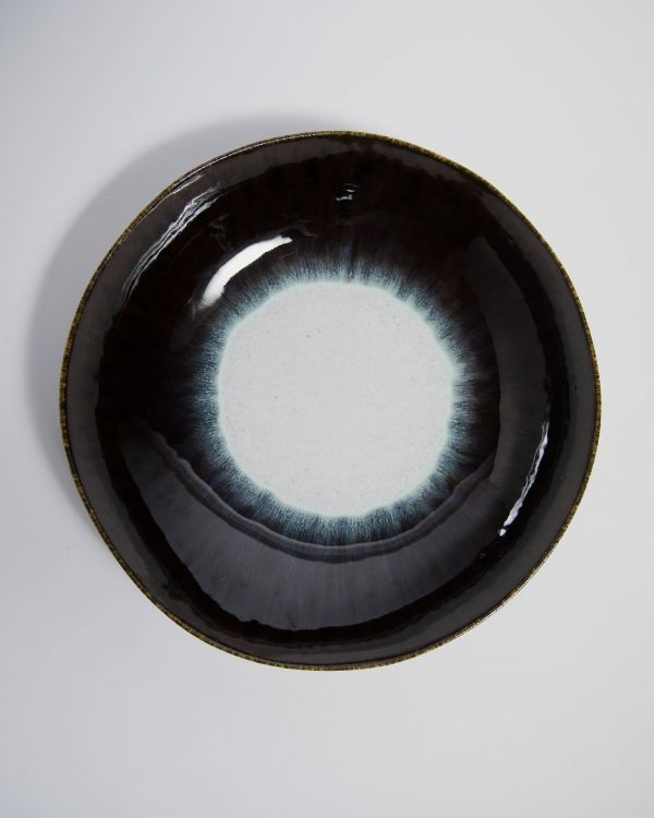 Alachofra - Servierschale flach schwarz 2