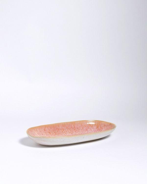 Areia Servierplatte M mit Goldrand pink 2