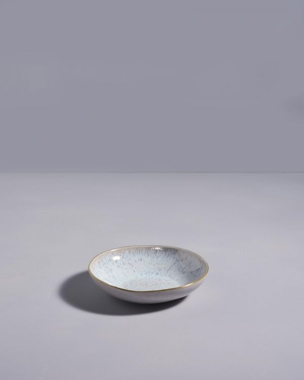 Areia Mini Teller mit Goldrand azur 2
