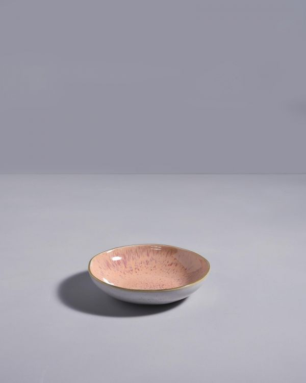 AREIA -Mini Plate with gold rim pink 2