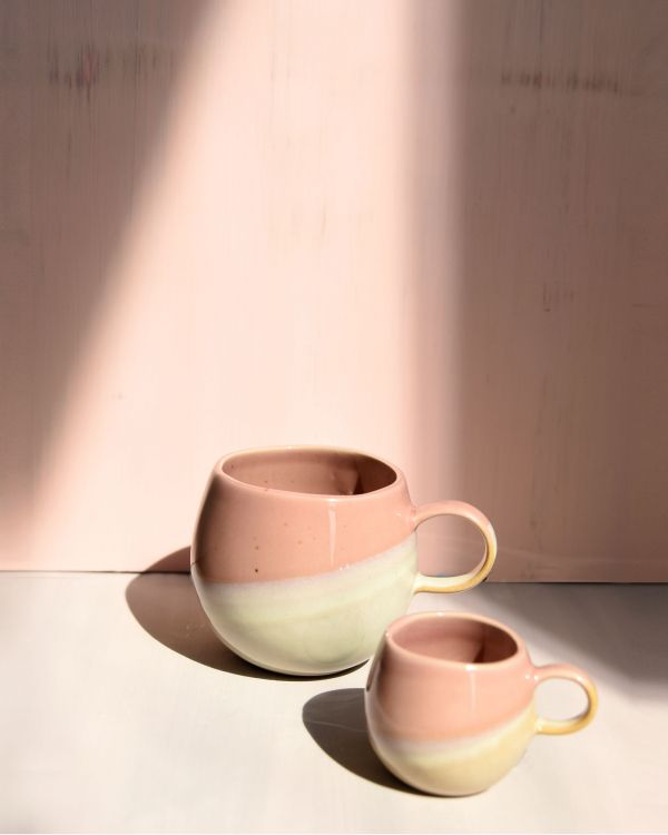 Bica Tasse gross pink cream 2