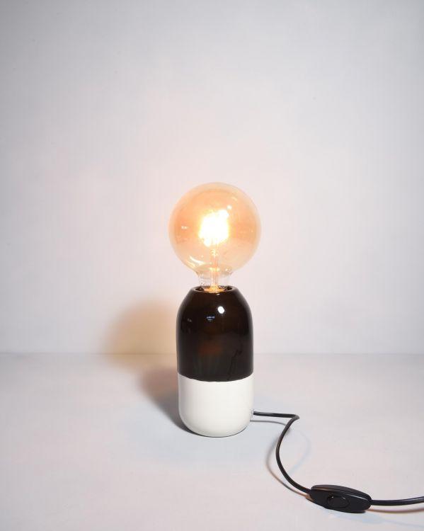 Farol Lampe schwarz weiss 2