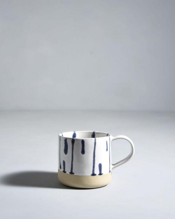 NÒDOA - Set of 6 Cups white blue 2