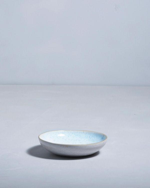 Areia Miniteller mit Goldrand azur 2