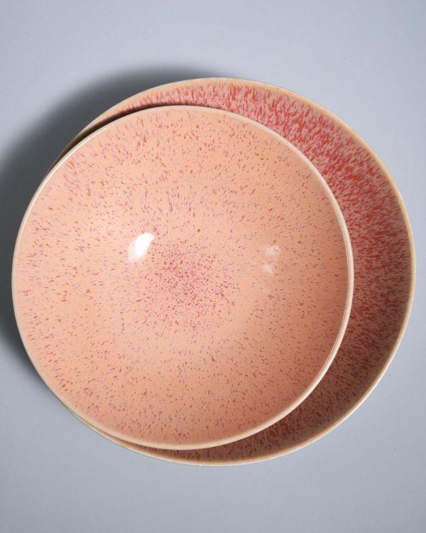Areia Servierschale gross flach pink 2