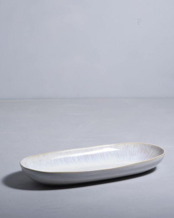 AREIA - Oval Serving Platter L sand 2