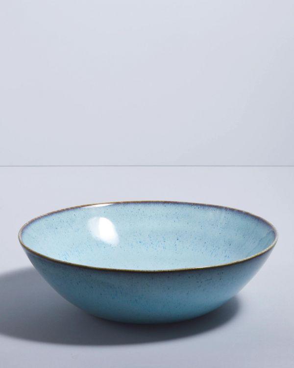 AREIA - Servingbowl big flat teal 2