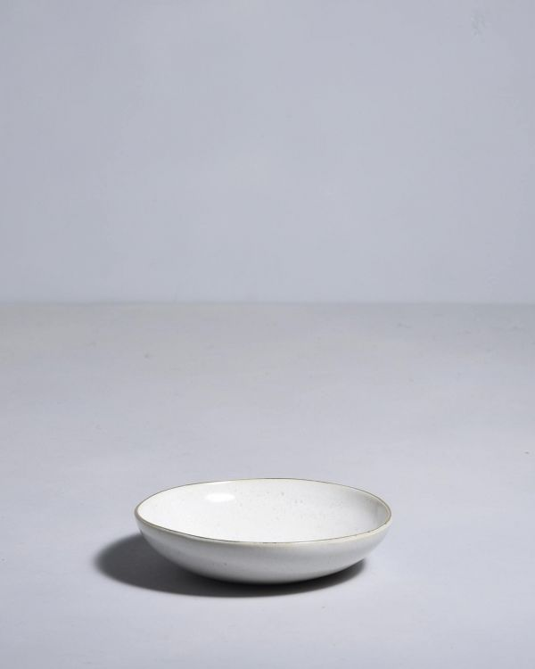 AREIA - Mini plate white with gold rim 2