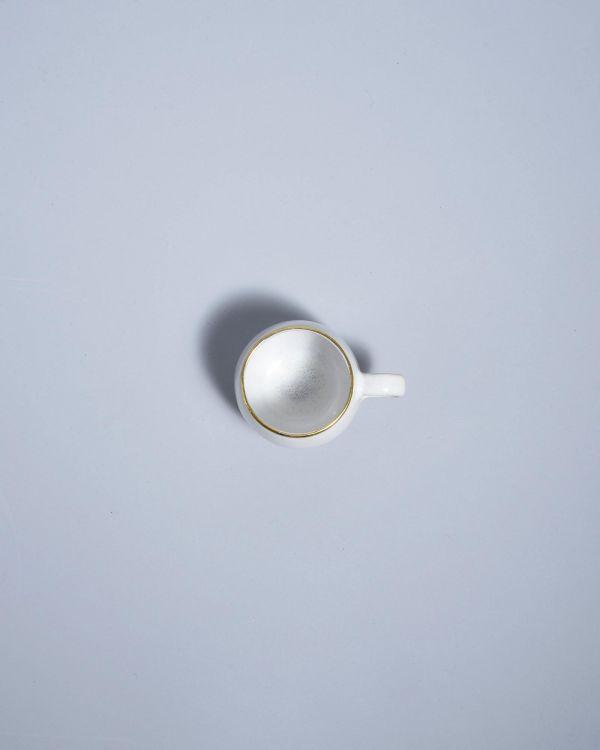 Areia Espressotasse weiß mit Gold 2