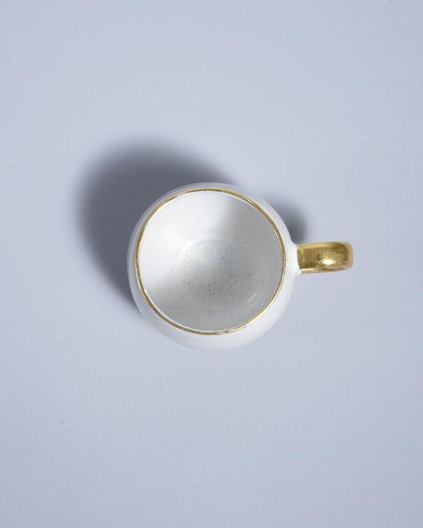 Areia Tasse groß weiß mit Gold 2