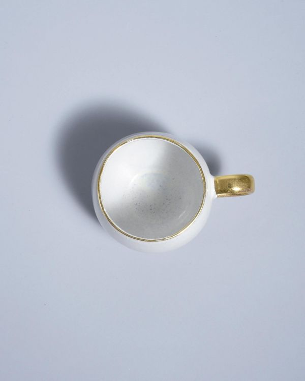 AREIA - Cup big with golden rim mint 2