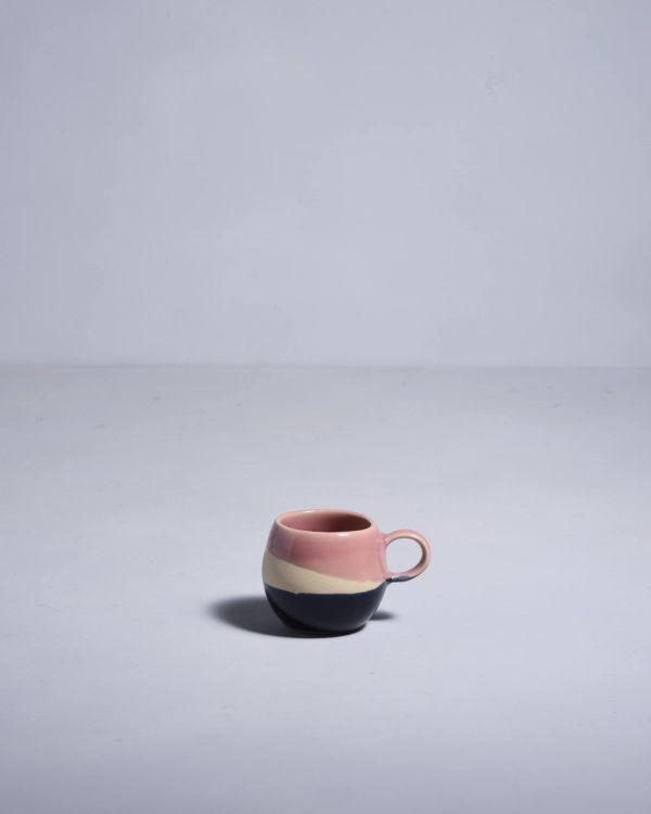 Bica Espressotasse pink navy cream 2