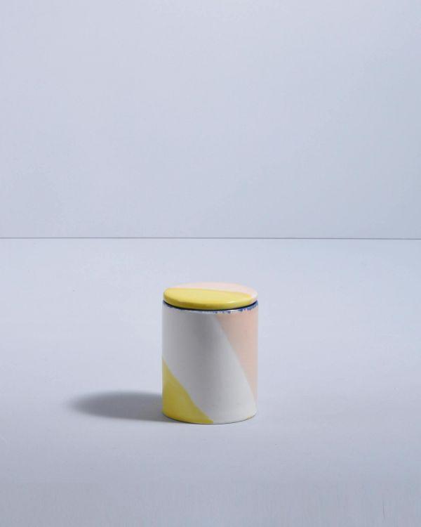 VELA - Candle white pink yellow 2