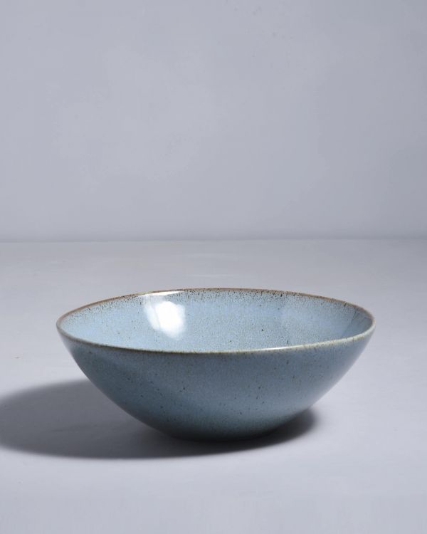 MAE - Servingbowl flat small turquoise 2