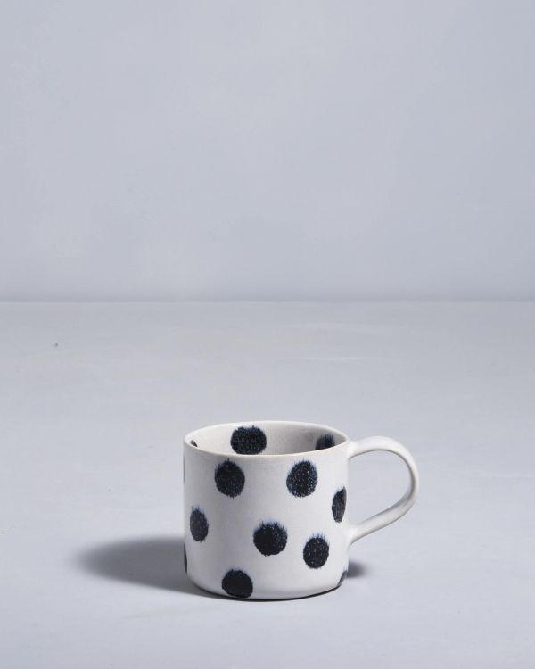 Nódoa 4er Set Tasse schwarze Punkte 2
